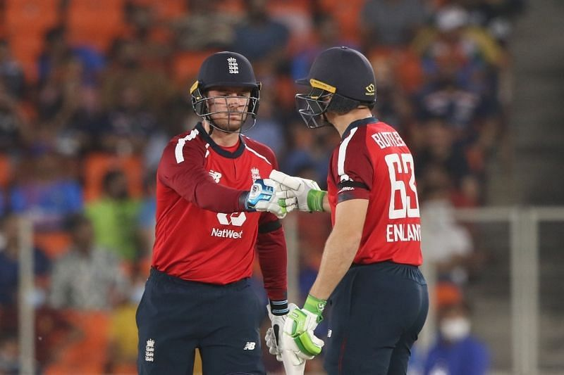England openers Jason Roy (left) and Jos Buttler (right). Pic: ICC