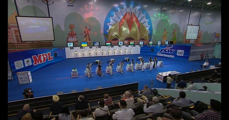 ISSF World Cup 2021, 10m Air Rifle men final (Image courtesy: ISSF)