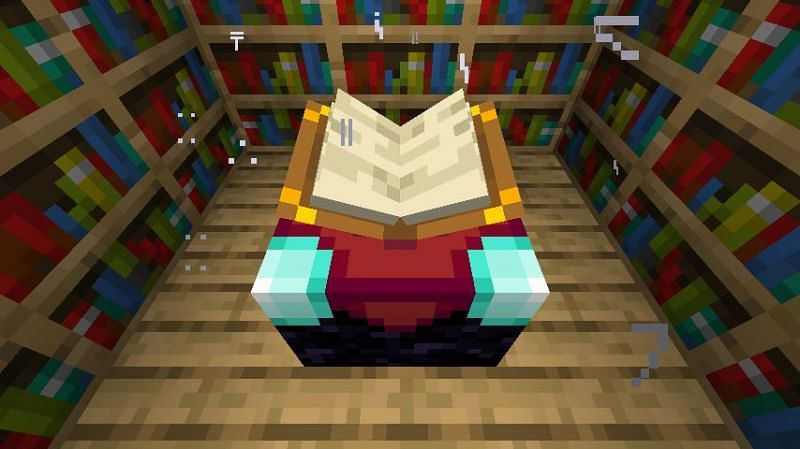 Minecraft enchantment table (Image via gamepedia)