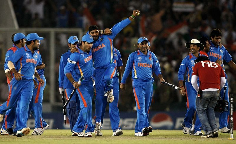 भारतीय खिलाड़ी सेलिब्रेट करते हुए