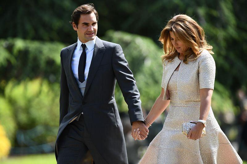 Roger Federer and wife Mirka