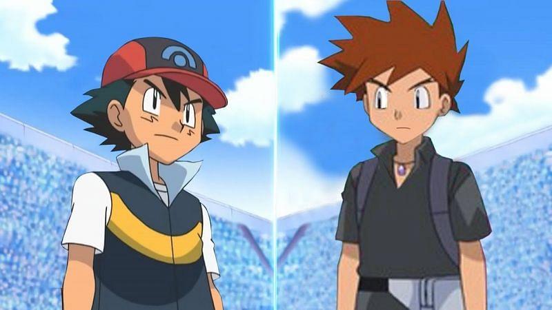 Gary and Ash (Image via The Pokemon Company)