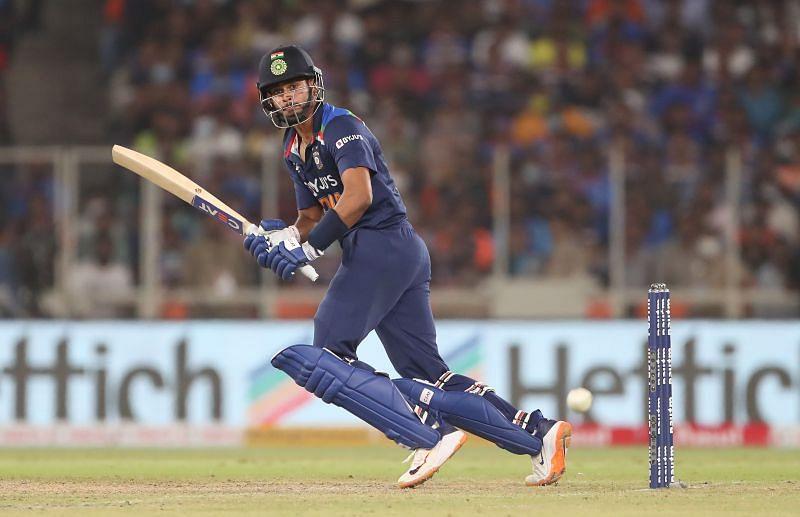 Shreyas Iyer has scored 121 runs in the series against England thus far