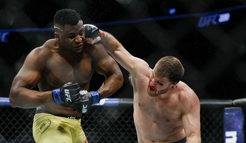 Francis Ngannou (left); Stipe Miocic (right)
