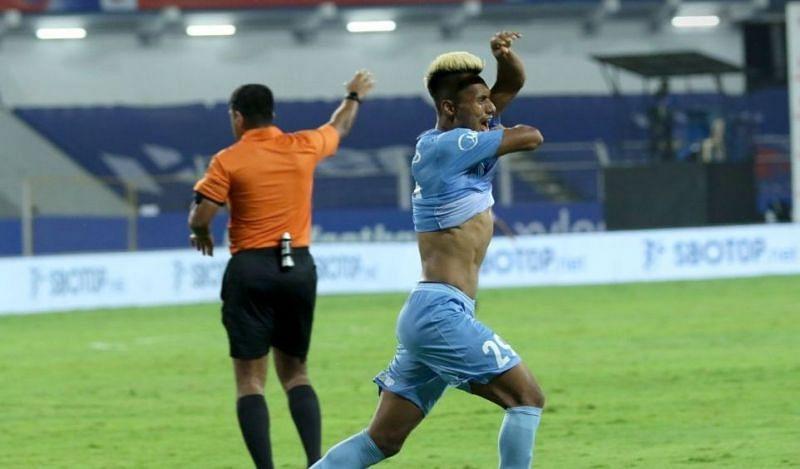 Bipin Singh scored the winner for Mumbai City FC (Image courtesy: ISL)