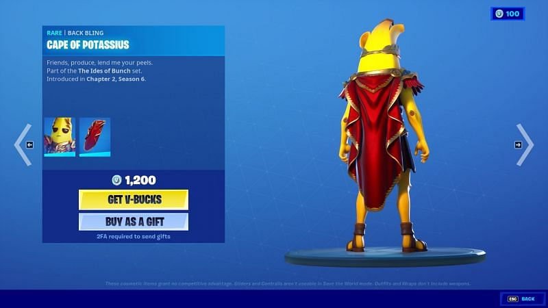 The perfect red cape to go along with the skin (Image via Epic Games/Fortnite)