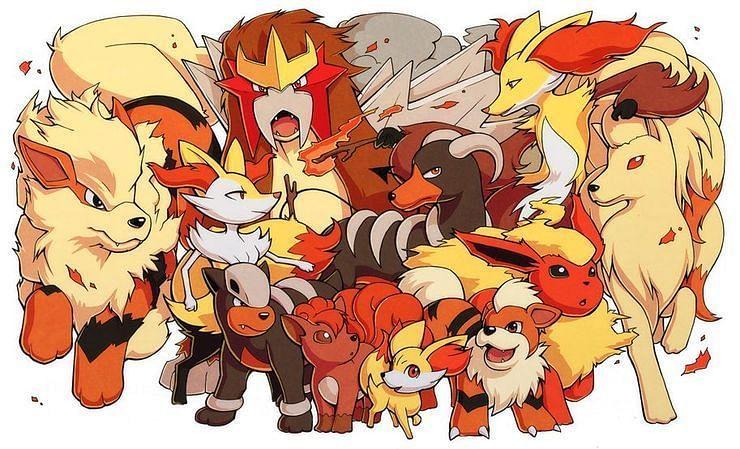 Fire-type Pokemon (Image via Holyhandgrenades on DeviantArt)