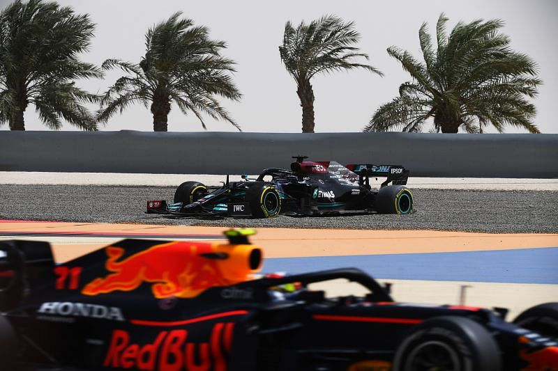 . Sebastian Vettel reckons Red Bull and Mercedes could fight it out for the title. Photo: Clive Mason/Getty Images.