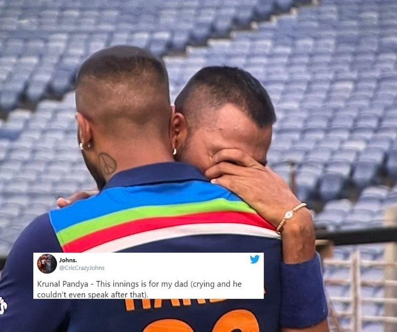 Krunal Pandya gets emotional remembering his late father