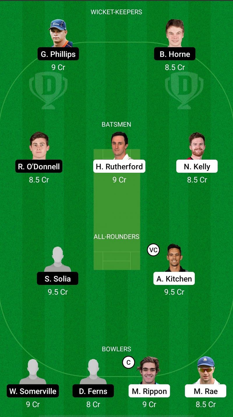 OV vs AA Dream11 Fantasy Suggestions - Plunket Shield
