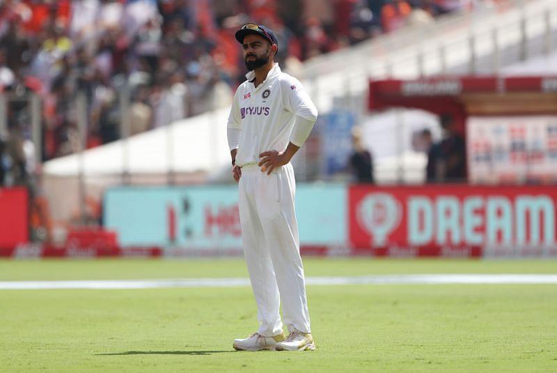 Virat Kohli looks perplexed after another dubious DRS decision
