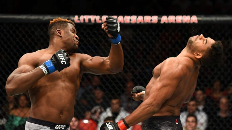 Francis Ngannou (left) is one of the most feared KO artists in combat sports today