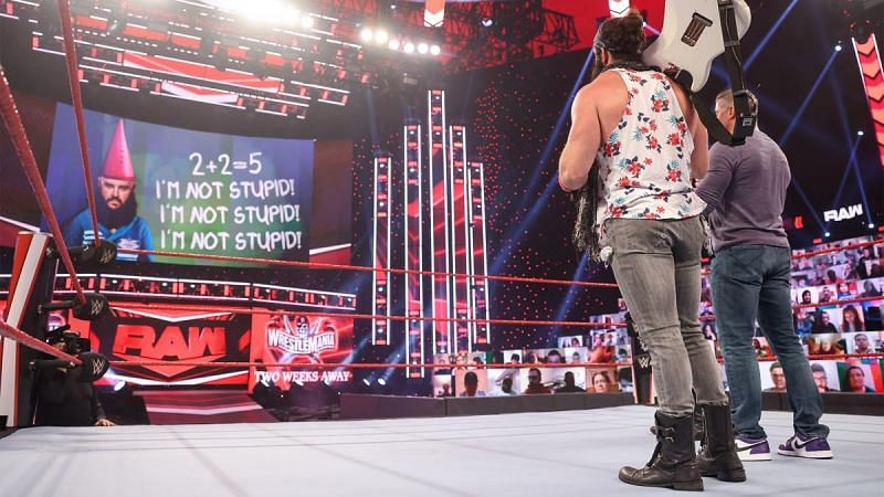 Shane McMahon displayed Braun