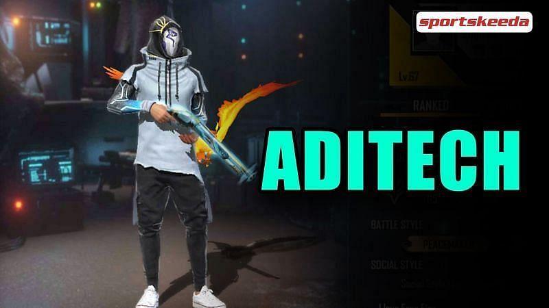 Free Fire ID of Aditech