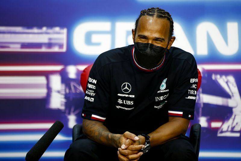 Hamilton was able to win the Bahrain Grand Prix despite driving a slower car. Photo: Mark Thompson/Getty Images.