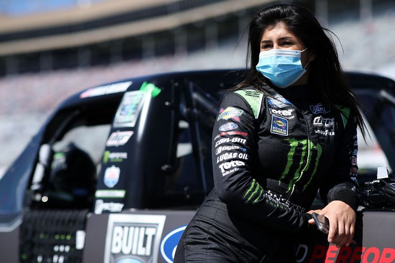 Hailee Deegan prior to the NASCAR Camping World Truck Series Fr8Auctions 200 at Atlanta. Photo/Getty Images