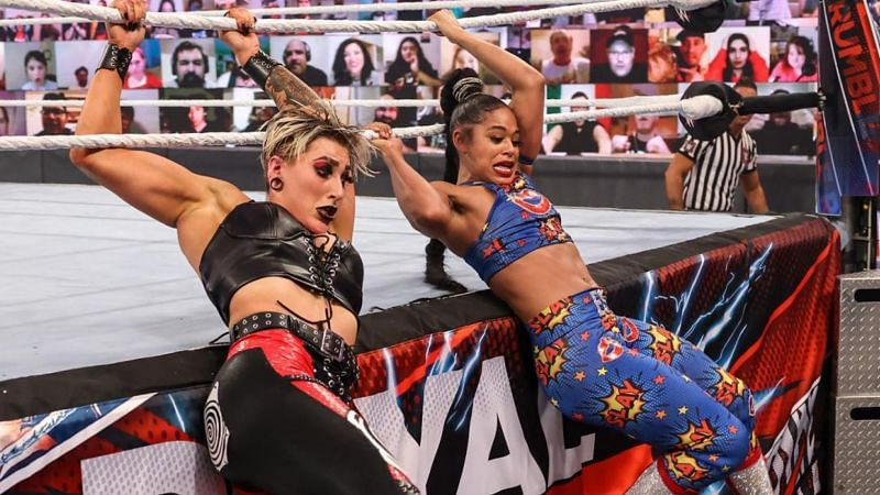 Rhea Ripley and Bianca Belair were the final two of the 2021 Royal Rumble