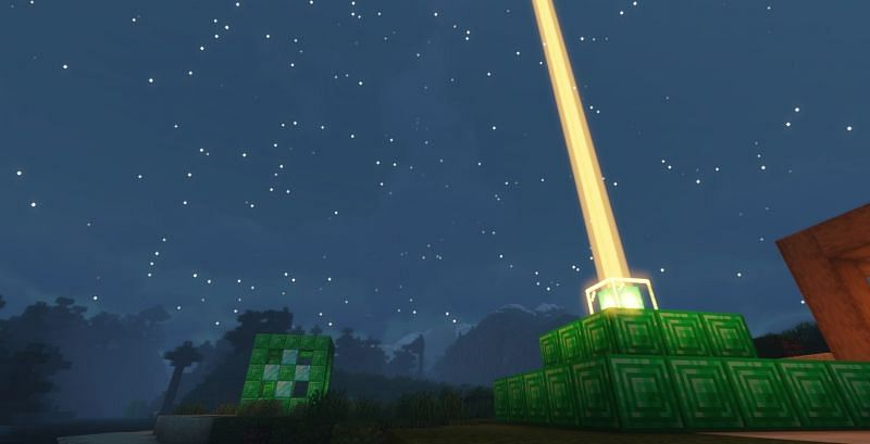 A Beacon can provide buffs to players nearby (Image via Minecraft)