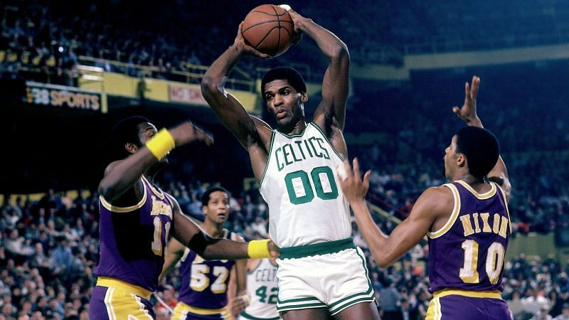 Robert Parish during his successful tenure with the Boston Celtics