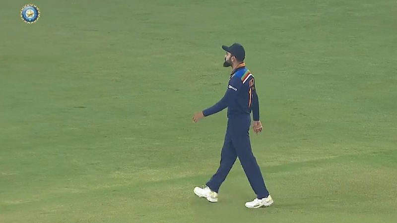 Virat Kohli was seen allegedly giving a send-off to Jos Buttler. (P.C.: BCCI)