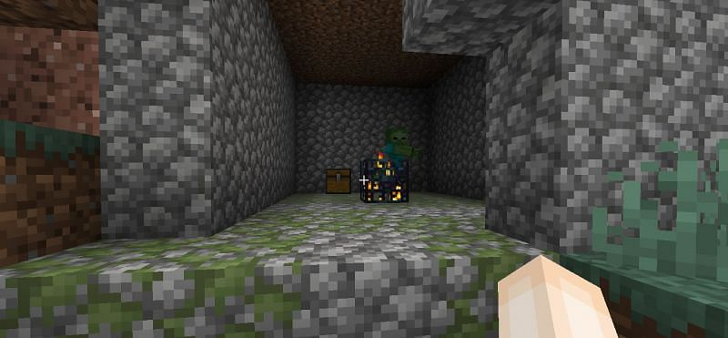 Zombie spawners can be difficult to seek out (Image via Minecraft)