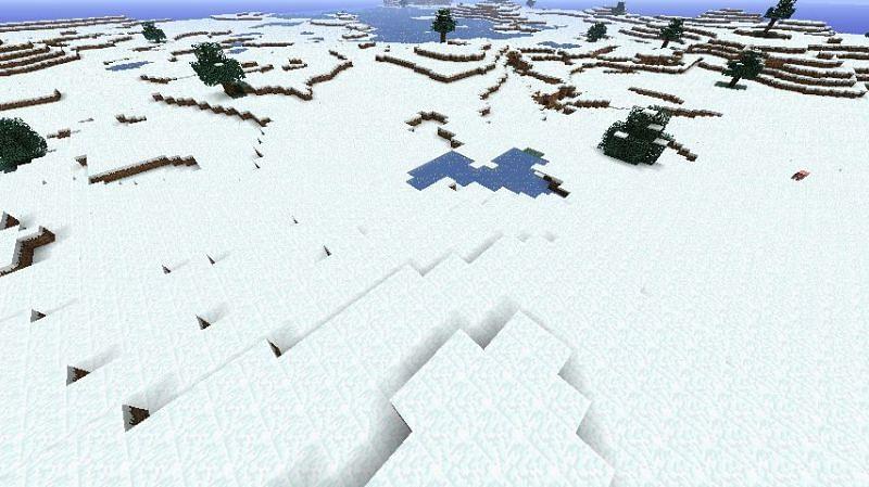 Classic Minecraft snowy tundra (Image via minecraft.fandom.com)