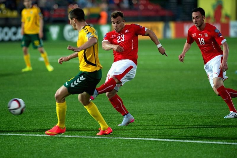 Switzerland and Lithuania meet in World Cup qualifiers for the very first time
