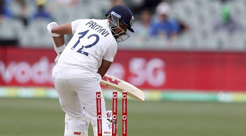 Prithvi Shaw registered scores of 0 and 4 against Australia.