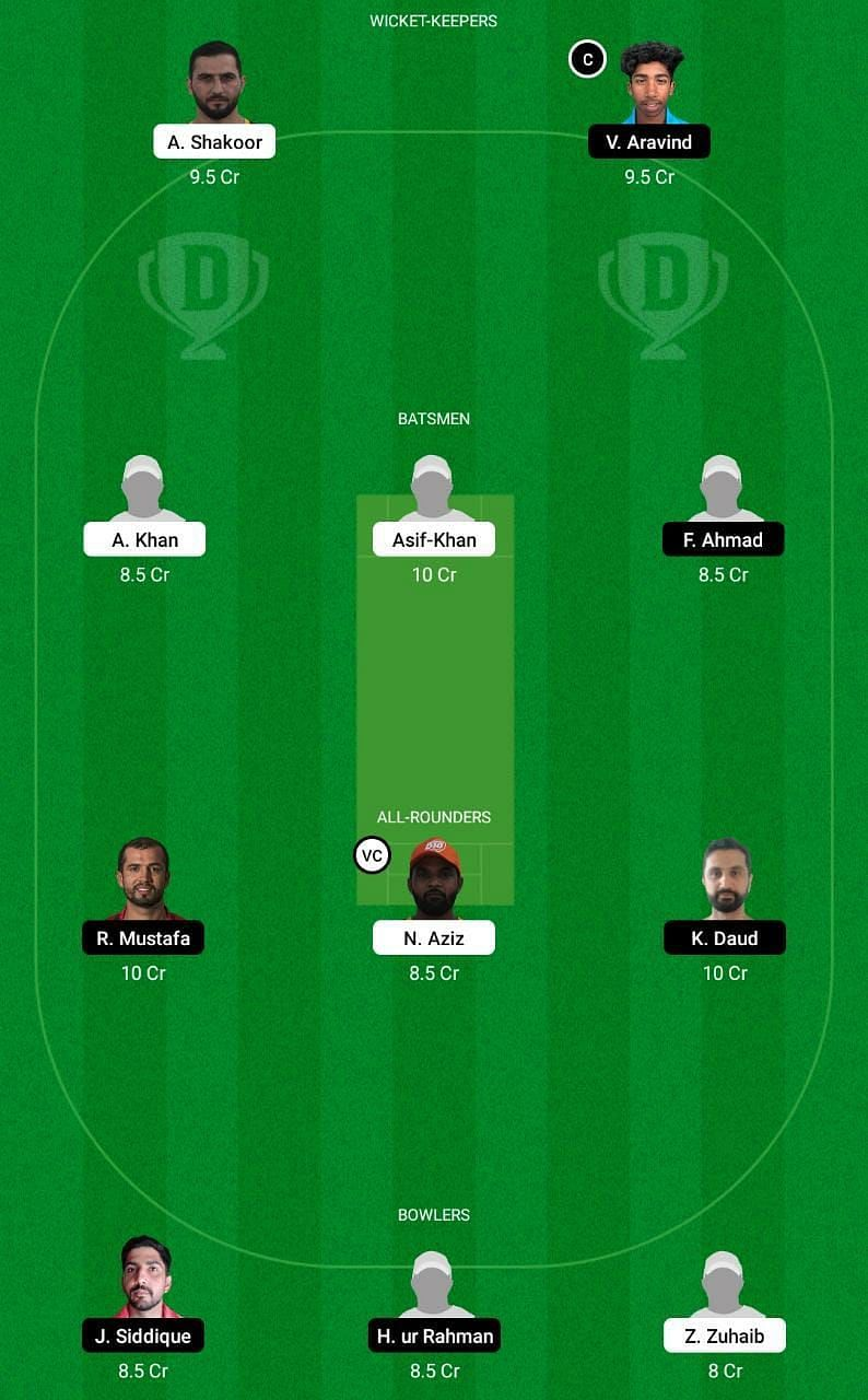 AJM vs SHA Dream11 Tips - Emirates D10 League
