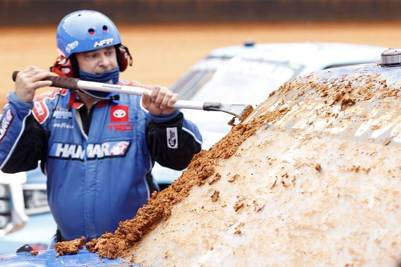 NASCAR is having some problems with their first dirt race in 50 years. Photo: Chris Graythen Getty Images