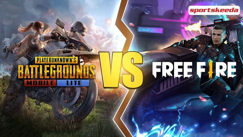 PUBG Mobile Lite and Free Fire are two of the most popular battle royale mobile games in the world (Image via Sportskeeda)
