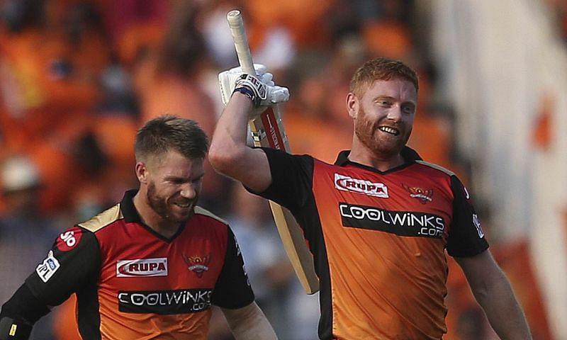 David Warner (left) and Jonny Bairstow (right)