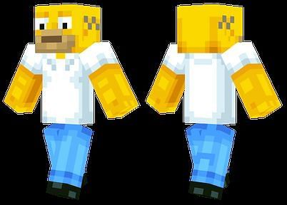 This costume is a pretty accurate replica of the actual character (Image via Minecraftskins.net)