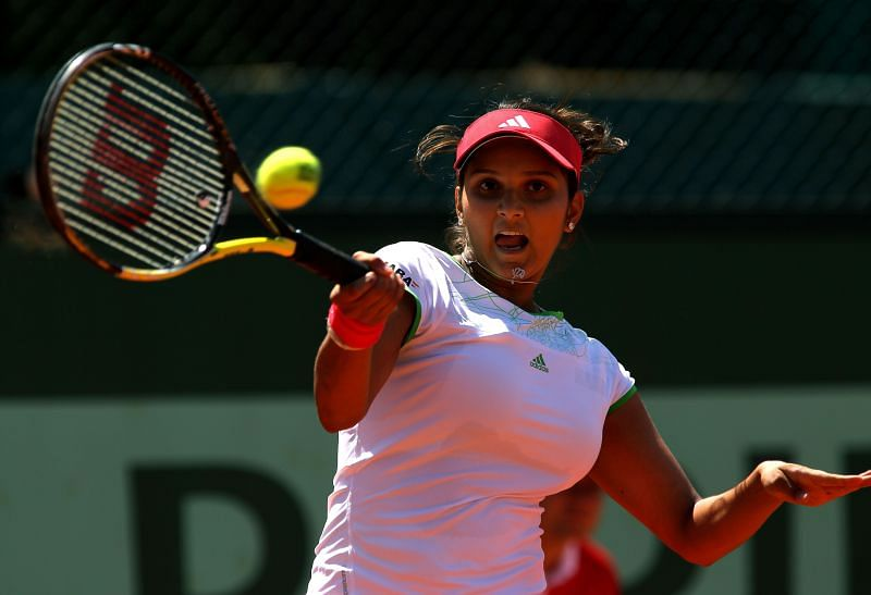 Sania Mirza at the 2011 French Open at Roland Garros in Paris, France