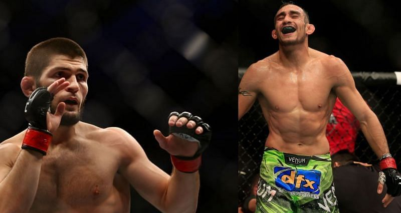 Khabib Nurmagomedov (Left), Tony Ferguson (Right)