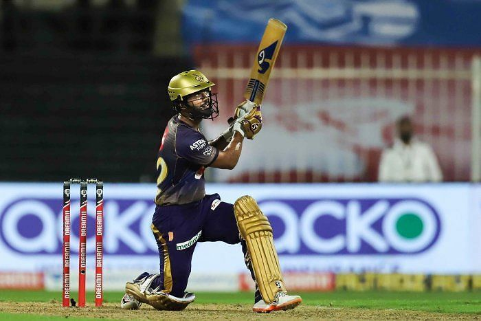 Rahul Tripathi was moved up and down the order in IPL 2021