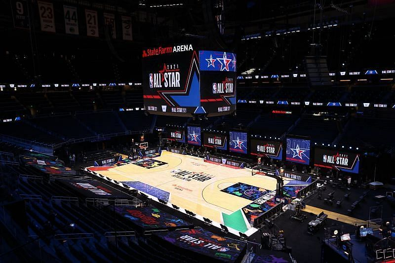 The stage is set for the 2021 NBA All-Star Game [Image: NBA.com]