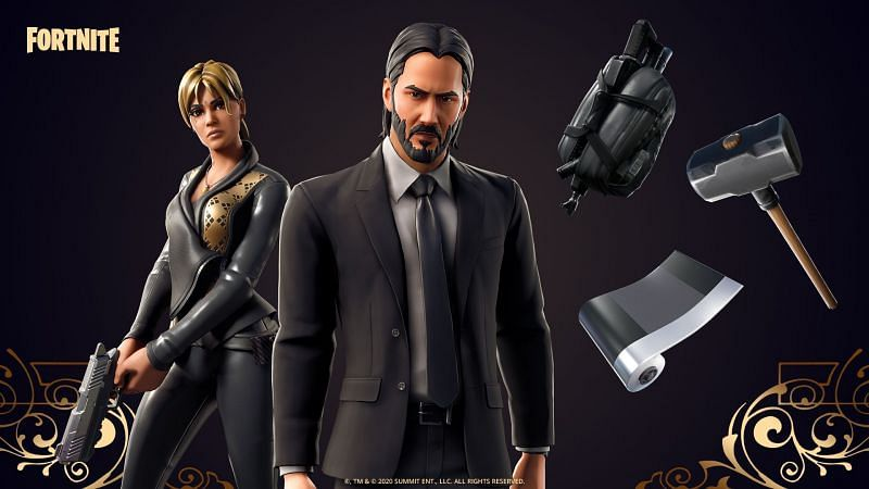 John Wick outfit is back in the in-game store (Image Via Epic Games/Fortnite)