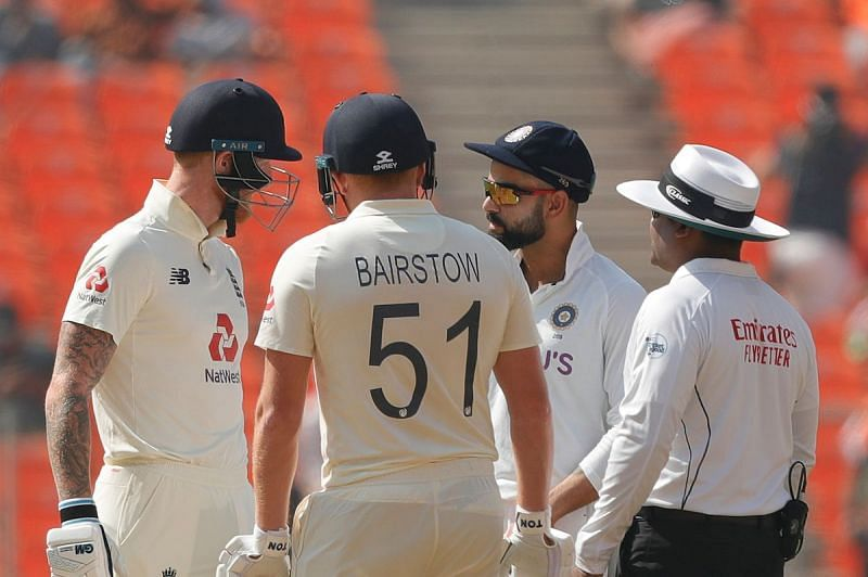 Virat Kohli and Ben Stokes engaged in a verbal duel.