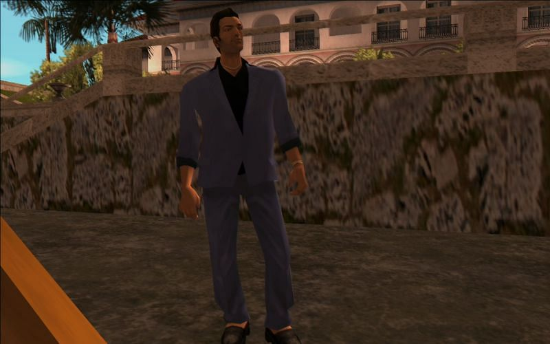 Unlock these clothes in GTA Vice City by beating The Party (Image via GTA Wiki)