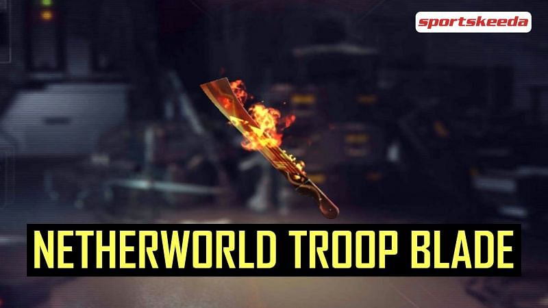 The Netherworld Troop Blade is a free Parang skin in Free Fire (Image via Sportskeeda)