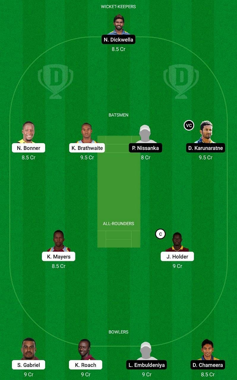 WI vs SL 1st Test Dream11 Tips