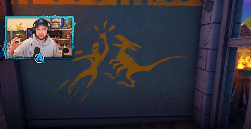 Hidden markings around the map suggest the arrival of dinosaurs. {Image via Ali-A}