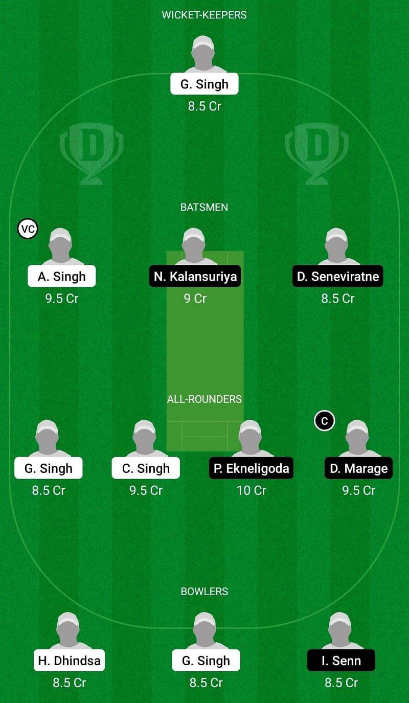 Dream11 Team for Asian Latina vs Roma CC - ECS T10 Rome.
