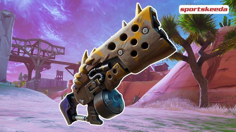 The Primal Shotgun was added this new season (Image via Sportskeeda)