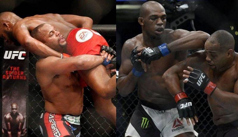 Jones vs. Cormier 1 (left); Jones vs. Cormier 2 (right)