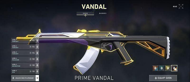 Basic Prime Vandal skin (Screengrab via Valorant)