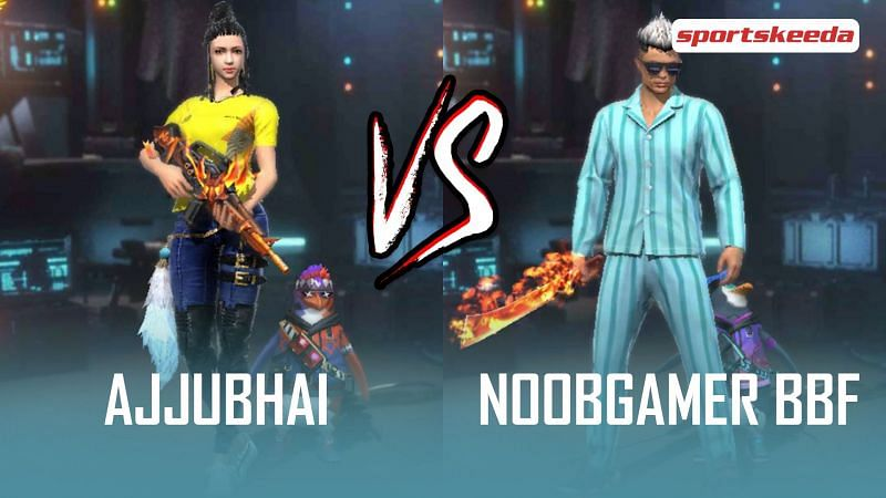 Ajjubhai and NoobGamer BBF are two popular Free Fire YouTubers