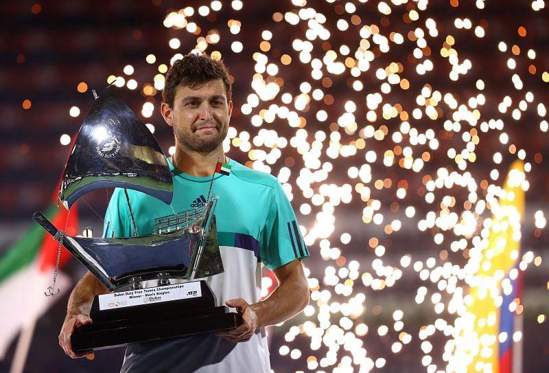 Aslan Karatsev with his Dubai Open title