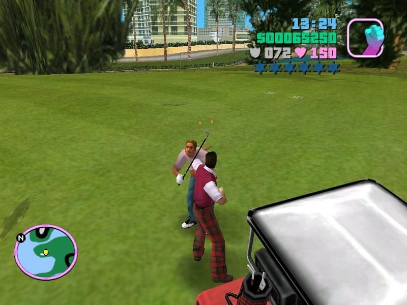 Players can acquire this costume by going to the Leaf Links Country Club in GTA Vice City (Image via GTA Wiki)
